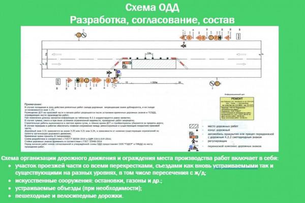 Разработка и согласование схемы организации дорожного движения